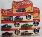 HOT WHEELS 50TH ANNIVERSARY REDLINE WITH BUTTON 5 CAR SET SUPER NICE