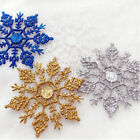 12Pcs Set Glitter Snowflakes Christmas Xmas Tree Ornaments Party Hanging Decor
