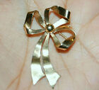 10K Solid Yellow Gold Pin Brooch Scraf Dress Hat Lapel Large Bow 3D Broach 3.7gr