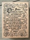 ALL NIGHT MEDIA WOOD RUBBER STAMP LORDS PRAYER 356J
