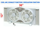 8061 High Quality 9  Twin Window Fan 3 Speed Dial with Remote Control White