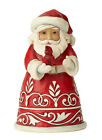 Enesco Jim Shore Heartwood Creek Pint Size Santa with Cardinal New 6001489