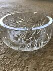 Heavy Crystal Etched Candy Dish German 5
