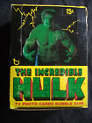 1979 complete full wax pack card box of the incredible hulk 36 packs