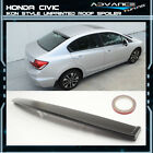 Fit 12-15 Honda Civic 4Dr 4D IKON Style Unpainted Roof Spoiler - ABS Plastic