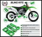 KAWASAKI KX450F 09-2016 GREEN BLING KIT KX250F 08-2016  KLX450 08-2014