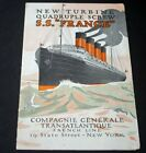 CGT FRENCH LINE SS FRANCE 1912 Introductory Brochure