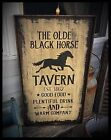 Handmade Heavily Distressed And Framed Sign-Vintage Advertising Tavern, EAAM
