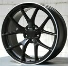 Set4 19x8 19x9 5x112 Black Wheels  Tires Pkg Benz C E Class 250 300 350 550