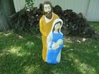 VINTAGE CHRISTMAS MARY JOSEPH JESUS NATIVITY LIGHTED BLOW MOLD OUTDOOR 2