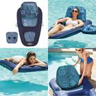 Pool Lounge For Adults With Cup Holder Recliner 2in1 Inflatable Pool Float Water