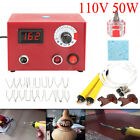 110v220v 50w Multifunction Pyrography Machine Gourd Wood Burning Pen Craft Tool