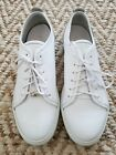 J Lindeberg mens white leather trainers sneakers 12