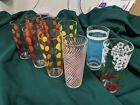 9 Vtg Mid Century Retro assorted drinking glasses -- Great condition