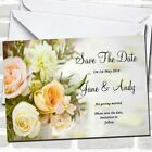 Peach Ivory Cream Rose Garden Wedding Save The Date Cards