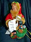 Beautiful Santa Claus Figurine with Yorkshire Terrier Head Face Unusual 11