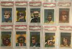 1967 Topps Who Am I? Lot of 13 Trading Cards PSA Graded