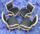 Exquisite Set Four 4 Bentwood Upholstered Dining Chairs Armchairs Side Dining