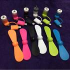2 in 1 Multicolor Portable Travel Mini USB Fan For iPhone Android Smart Phone UP
