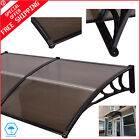 DIY Aluminum Polyester Window Awning Modern Polycarbonate Cover 40 x 80 Brown