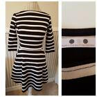 NWOT Three Dots Striped Fit Flare Dress Size Small