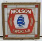 Vintage Molson Export Ale Since 1786 Beer Bar Sign - Stain Glass Look