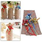 Creative Bar Flower Linen Wine Set Snowman Wine Bottle Christas Gift Present