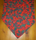 Christmas Holly Table runners Red  Green Homemade 60cm 110cm 135cm 180cm cotton