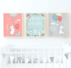 Personalised Baby Girl Birth Details Print Mint Green Nursery Wall Art Prints