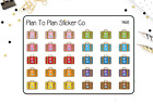 1468 Travel Suitcases Planner Stickers