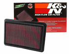 K&N 33-2480 Replacement Panel Air Filter for 2012-up Mazda 3, 6, CX-5 2.0L 2.5L
