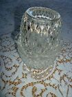 1960'S INDIANA GLASS CLEAR TWO PIECE FAIRY LAMP - DIAMOND POINT PATTERN