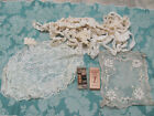 LG POT-LUCK LOT* EDWARDIAN Hand-Md CROCHET LACE TRIMS-TAMBOUR+ JP Coats SILK $11
