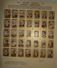 1940 Famous American Poster Stamps Approved by National Poster Stamp Society