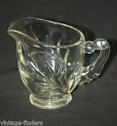 Old Vintage Willow Clear by Indiana Glass Milk Creamer Leaf Design Pressed Clear