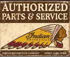 New Indian Motorcycle Parts  Service Metal Tin Sign Garage Decor