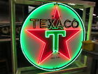 Old Texaco Porcelain Sign with Animated Neon 72