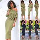 Fashion Women's Casual One Shoulder Bandage Bodycon Evening Party Cocktail Dress