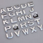 A Z Alphabet Letters Car Sticker Self Adhesive Auto Badge Emblem 3D Chrome 25mm