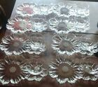 8 glass flower snack sets Cosmos Garden Club Colony plate cups original superb!