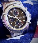 Men's Festina Watch Chronograph Stainless Steel Black Dial HOT!