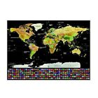 Scratch Off World Map Scratchable Travel Edition Poster Vacation Journal Log 1PC