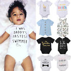 USA Newborn Infant Baby Boy Girl Romper Bodysuit Jumpsuit Clothes Outfits Lots