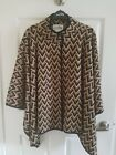 Beautiful Joseph Ribkoff LDS Cover Up Ponco Jacket Sz.S-M Black/beige