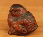 chinese boxwood hand carving chick statue figure lovely noble gift