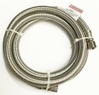 Certified 5-foot Braided stainless steel Ice Maker Connector Hose (IM60SS)