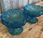 STARS Blue Compote Glass Dishes