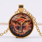 Women Retro New Jewelry Gold Charm Birds Cabochon  photo Pendanr chain Necklace