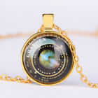 Women Retro New Jewelry Gold Charm Cabochon  photo Pendanr chain Necklace