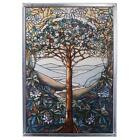Tree of Life Tiffany Stained Art Glass Window Wall Hanging Nature Home Decor